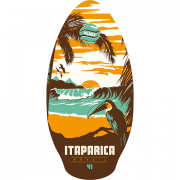 Skimboard 105cm Itarapica orange
