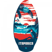 Skimboard 106cm BUGZ wood  Itarapica Red