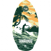 Skimboard 100cm Slidz Tamarindo green-orange